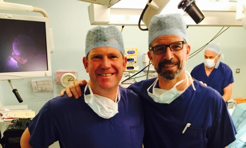 Visiting Prof Gordon Mackay to learn ACL repair technique