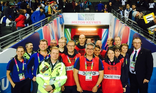 The medical team at RWC 2015 in Milton Keynes